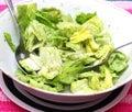 Green salad a in a bowl Stock Photos