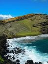 Green Sand Volcanic Beach Hawaii Royalty Free Stock Photo