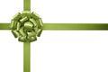 Green satin ribbon Royalty Free Stock Photo