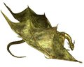 Green scaled dragon crawling with metallic scales d digitally rendered illustration Stock Photo