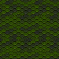 Green Scales Seamless Pattern Stock Images