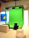 Green screen for movie shooting set up or commercial Stock Image