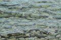 Green sea water with rocks Royalty Free Stock Photo