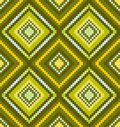 Green seamless abstract african ethnic ornament Royalty Free Stock Images