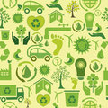 Green seamless background eco design Stock Image