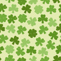 Green seamless clover pattern for textiles interior design for book design website background Stock Image