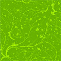Green seamless floral pattern Stock Photo