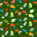 Green seamless leaves pattern abstract vector Royalty Free Stock Photo