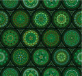 Green seamless oriental pattern ethnic motifs Royalty Free Stock Image