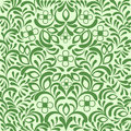Green seamless ornate floral background Stock Photo