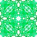 Green seamless pattern. Astonishing delicate soap bubbles. Lace hand drawn textile ornament. Kaleido Royalty Free Stock Photo