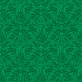 Green seamless pattern floral wallpaper vector illustration Royalty Free Stock Photography