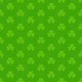 Green seamless pattern with Saint Patricks shamrock symbols Royalty Free Stock Photo