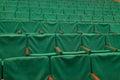 Green seats in cinema