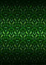 Green secession theme pattern dark background vector illustration Stock Images