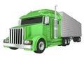 Green Semi Truck 18 Wheeler Big Rig Hauler