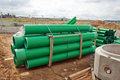 Green sewer pipes Royalty Free Stock Photo