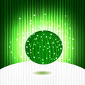 Green shiny ball Royalty Free Stock Photography