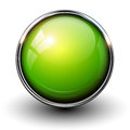 Green shiny button Stock Photography