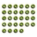 Green shiny web buttons Stock Photos