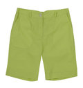 Green shorts isolated on white Stock Image