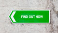 Green sign - Find out how Royalty Free Stock Photo