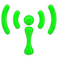 Green sign wi-fi Stock Image