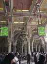 Green signage inside Masjid al Haram Royalty Free Stock Photos