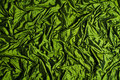 Green silk background Stock Photos