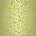 Green & silver shining vintage wallpaper design Royalty Free Stock Photo