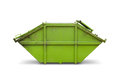 Green skip or dumpster for municipal waste industrial waste on white background with clipping path Royalty Free Stock Photo