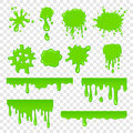 Green slime set Royalty Free Stock Photo