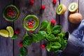 Green smoothie. Royalty Free Stock Photo