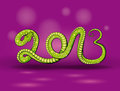 Green snake 2013 Royalty Free Stock Image