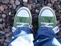 Green Sneakers Stock Image