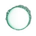 Green soap bubble isolated Royalty Free Stock Photo