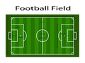 Green soccer field ground line / Green football field ground line. Sport vector illustration. image, jpeg. eps10. Measurements sta