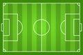 Green Soccer Field Illustration
