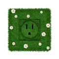 Green socket Stock Photo