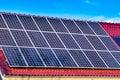 Green solar energy panels Royalty Free Stock Photo
