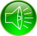 Green sound button Royalty Free Stock Photo