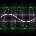 Green sound wave Stock Photography