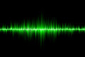 Green sound wave background Royalty Free Stock Photo