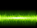 Green sound wave on white background eps vector file Royalty Free Stock Image