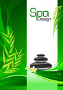 Green Spa Background Stock Images
