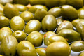 Green spicy olives Royalty Free Stock Photography