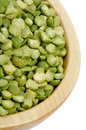 Green Split Peas Stock Photo