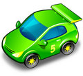 Green sport car over white Royalty Free Stock Photography