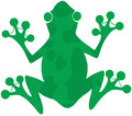 Green spotted frog silhouette logo Stock Photography