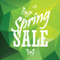 Green spring sale low polygonal background with